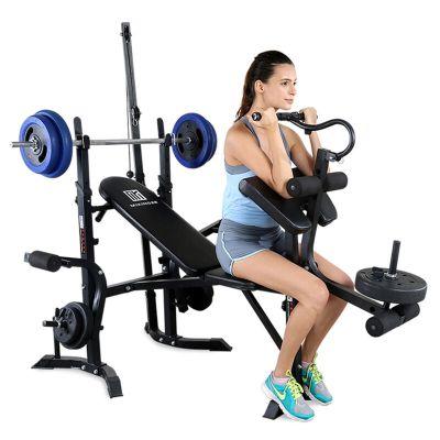 迈康 多功能举重床卧推架家用杠铃架健身综合训练器材(含40KG杠铃)
