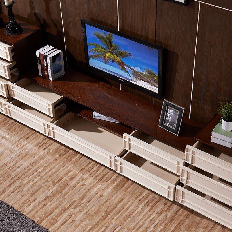 品一 茶几电视柜组合套装 北欧长方形茶桌地柜 现代简约三四斗柜客厅