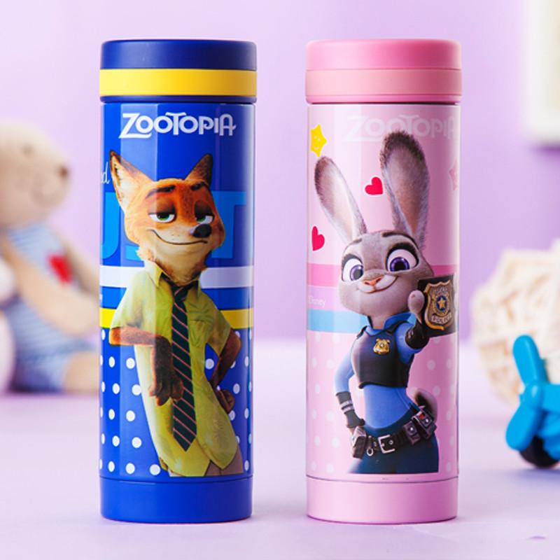 迪士尼 疯狂动物城 300ml 保温杯男女士便携水杯儿童不锈钢水壶运动茶