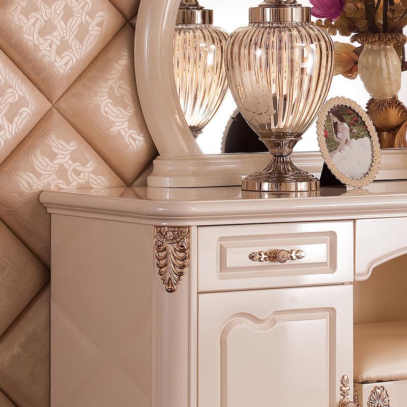 永旭家具 欧式梳妆台凳大户型卧室组合套装古典实木储