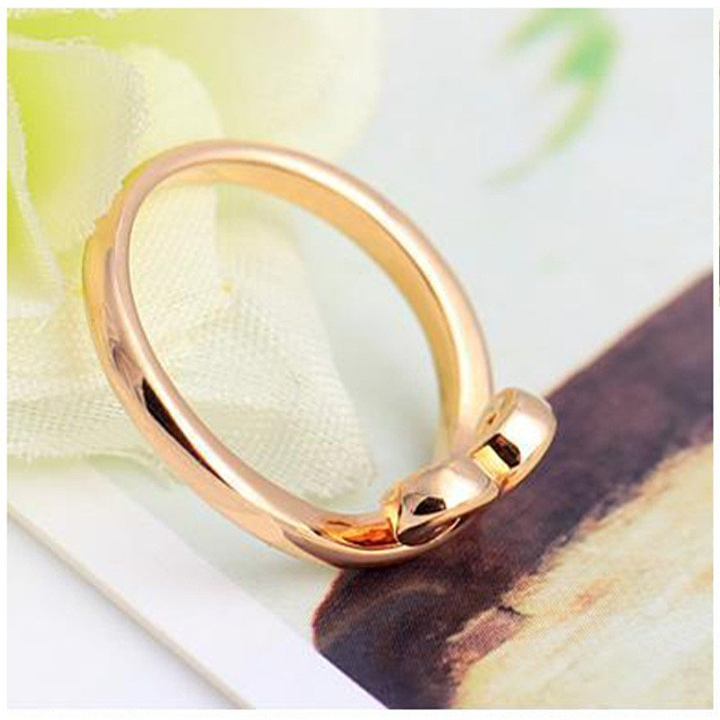 喜福龙 爱你一万年紧箍咒情侣戒指18k金玫瑰金戒指男女对戒婚戒