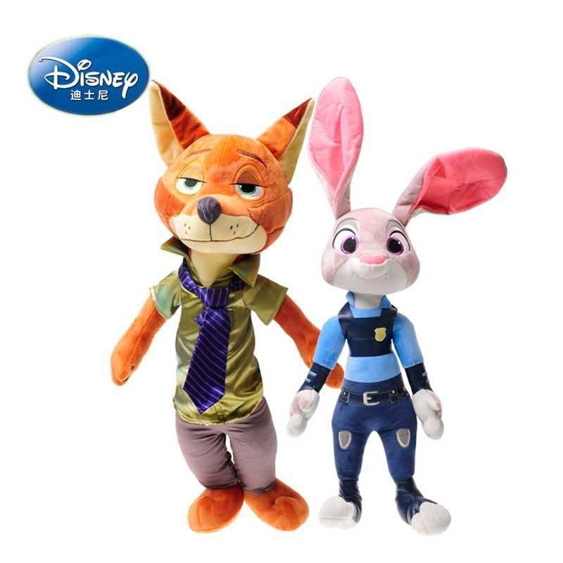 疯狂动物城正版迪士尼公仔兔子朱迪狐狸尼克女生闺蜜