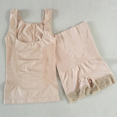 衫伊格 薄透氣交叉產后塑身衣 加強薄款夏季衣束身收腹套裝塑身衣分體內衣塑身衣束身衣