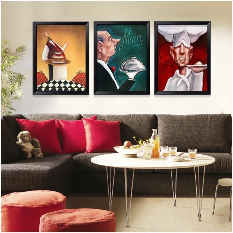 龟兔 客厅装饰画 餐厅卧室挂画 酒店酒吧壁画 欧式现代简约趣味三联画