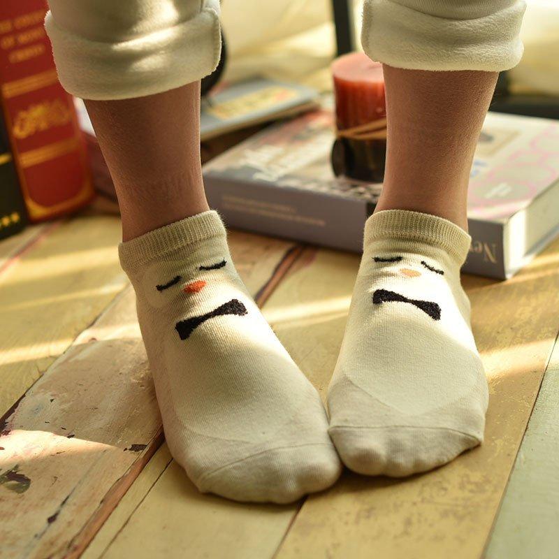 慕姿媛 船袜女甜美风卡通韩版可爱女袜 潮个性低帮浅口运动短袜日系