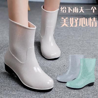 回力雨鞋2016夏季新款女士時尚中筒雨靴防水防滑雨鞋回力雨鞋523