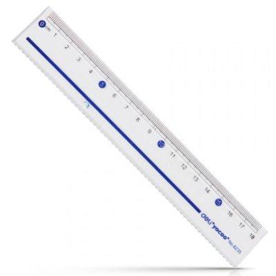 得力文具 deli 6235 18cm厘米 塑料 直尺 绘图制图工具
