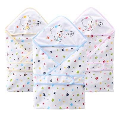 貝樂咿 初生兒抱被夏季夏款春秋寶寶被子抱毯兒童單層小包巾襁褓嬰兒用品包被裹部透氣浴巾初生兒包單包布 90*90