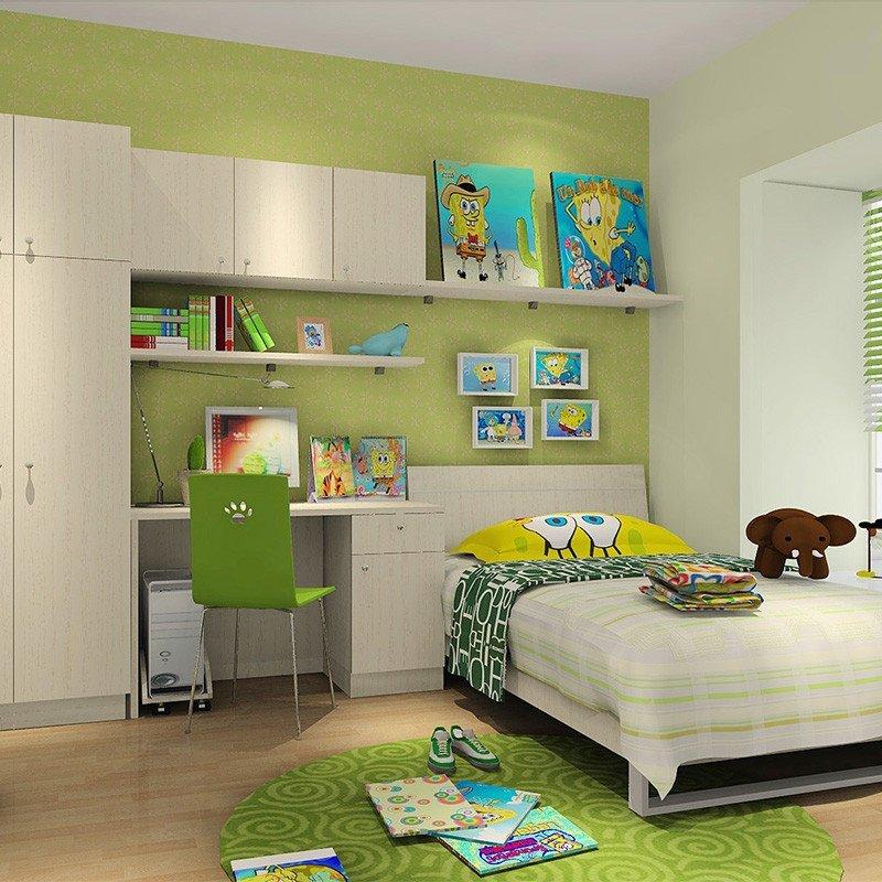 科凡儿童房家具套房组合定制 简约田园木质移门整体衣柜 儿童衣柜