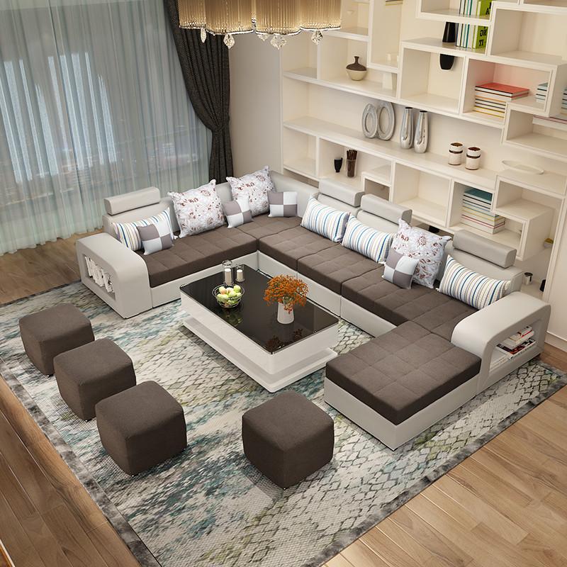 简约现代布艺沙发 可拆洗u型沙发 小户型客厅家具 休闲沙发