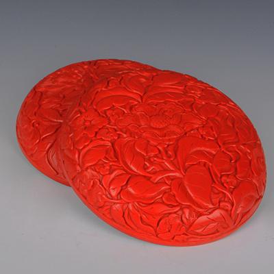 中工美 工藝品 漆器大明花盒 北京禮物送外賓