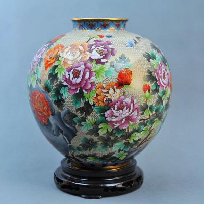 中工美 工藝品 景泰藍 一庭香瓶 北京禮物送外賓