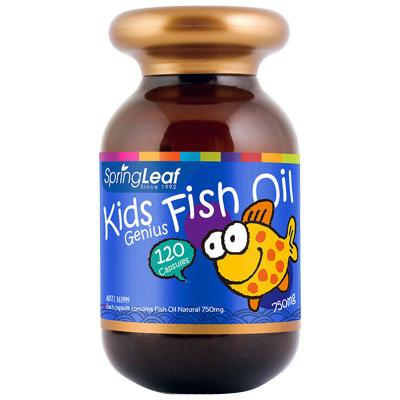 澳洲直郵 假一賠十 springleaf 綠芙 兒童DHA魚油軟膠囊 120粒瓶裝