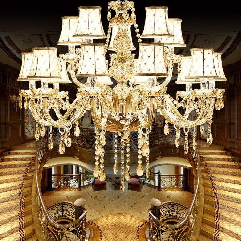 欧式水晶吊灯 客厅灯 现代简约餐厅 卧室蜡烛水晶灯大厅灯具简欧灯具