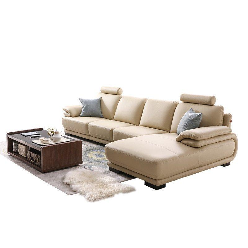 顾家家居 欧式真皮沙发头层牛皮简约现代小户型客厅家具1009