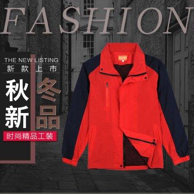 (非苏宁工装款预售,30天之内发货)帮客材配spine line2017年新款秋冬季双层红色工装