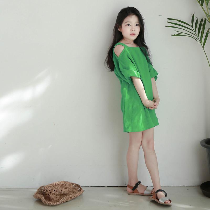夏季3-13岁中大童清新小女孩裙子亲子装儿童裙