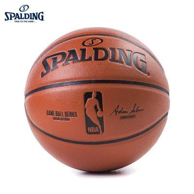 SPALDING斯伯丁旗舰店NBA职业比赛用球室内室外通用篮球PU七号篮球(标准男子比赛用球)74-570Y