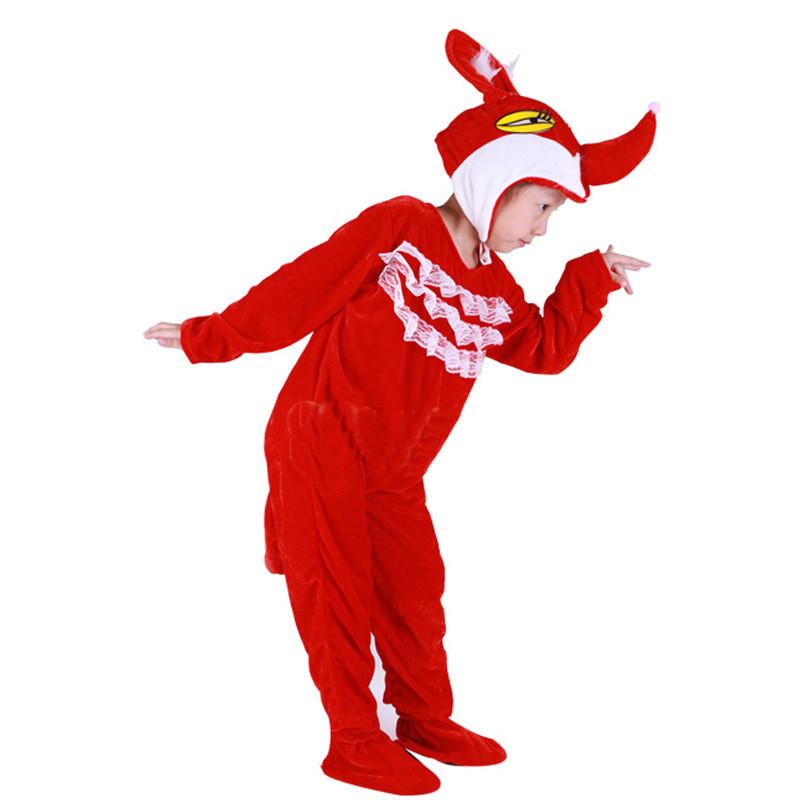 2016圣诞儿童服装动物服红狐狸演出服装舞蹈表演服舞蹈服装动漫服装