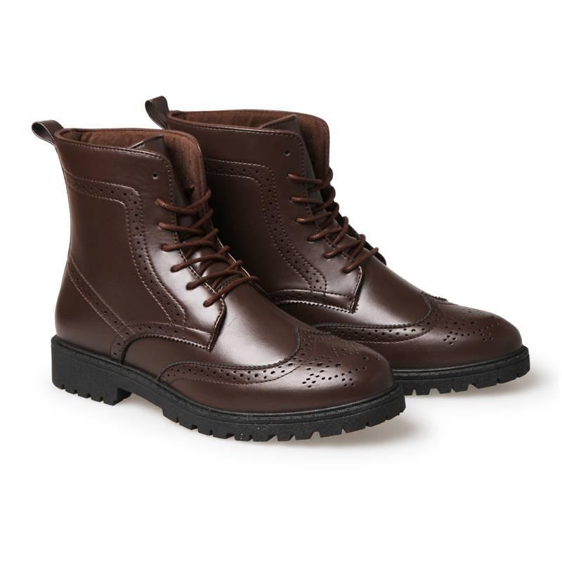 2016秋冬季保暖高帮时尚系鞋带 休闲鞋男靴子工装鞋男士马丁靴英伦风