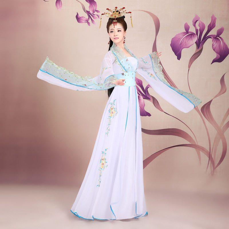 古装服装女装仙女唐朝古代汉服演出服舞蹈襦裙公主贵妃古典舞唐装