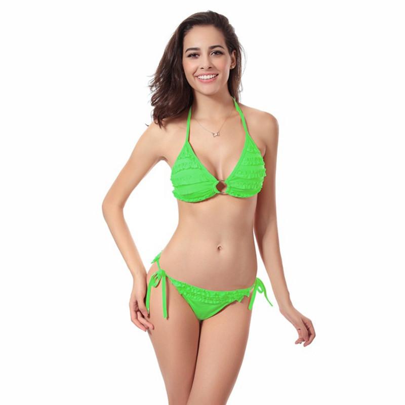 2017新款比基尼泳衣 11色花朵欧美女式性感泳装