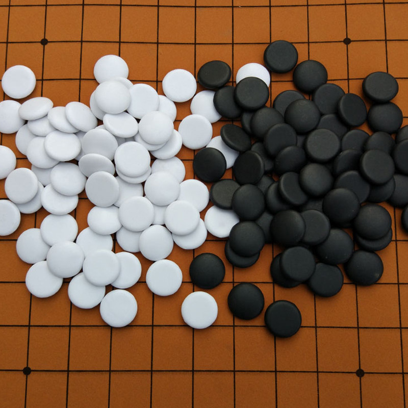 黑白棋子 儿童成人五子棋 益智游戏棋皮革棋盘初学者围棋套装