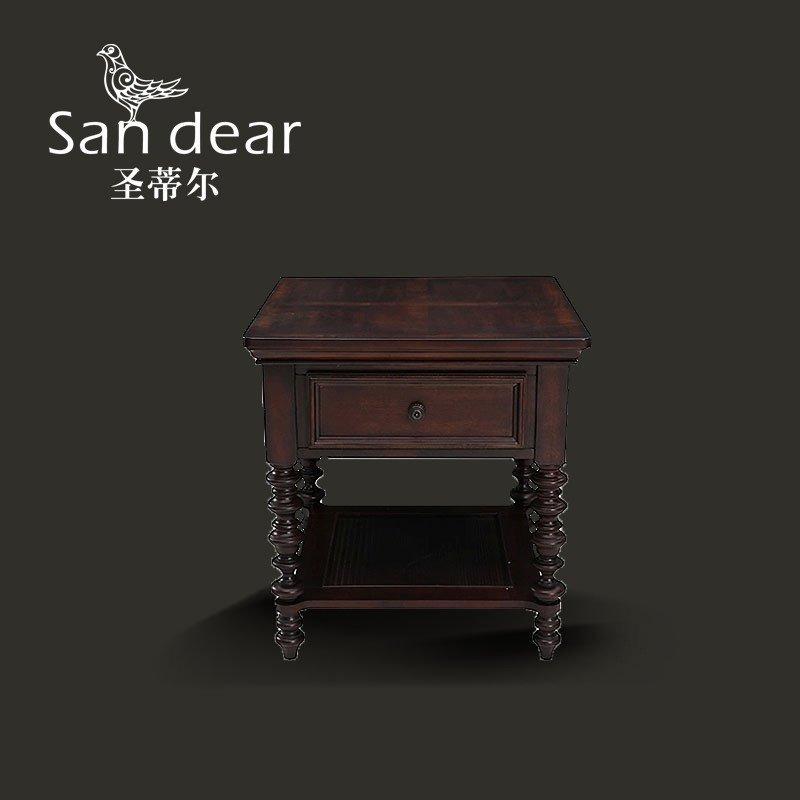 圣蒂尔 美式实木边角几 沙发角几 欧式小茶几桌子 美式咖啡桌