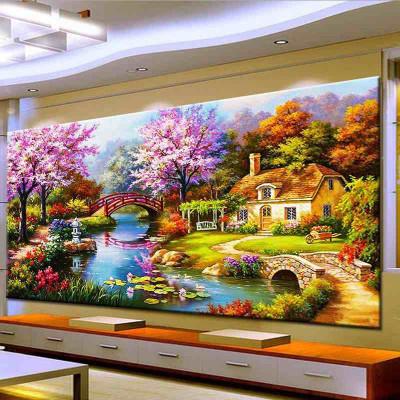 鉆石畫夢幻家園 貼鉆十字繡風景新款客廳滿鉆 點鉆貼鉆鉆石繡全鉆