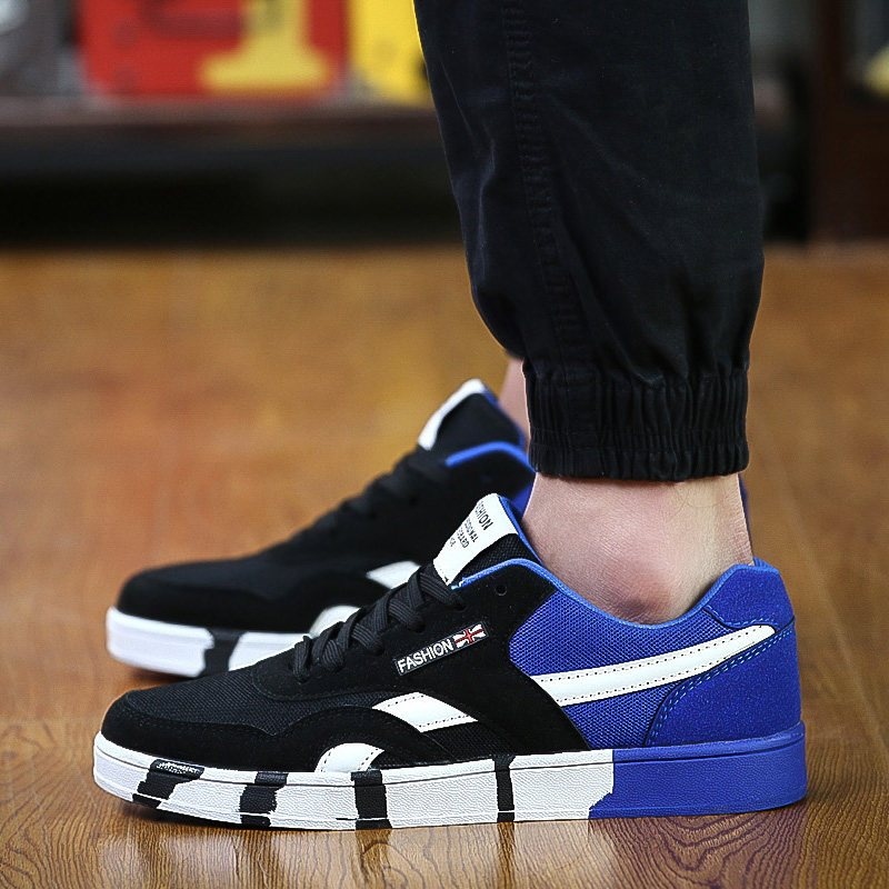 男生鞋子2014潮流_2016夏季新款透气网布板鞋男青年学生潮流休闲鞋子男生运动鞋男潮鞋
