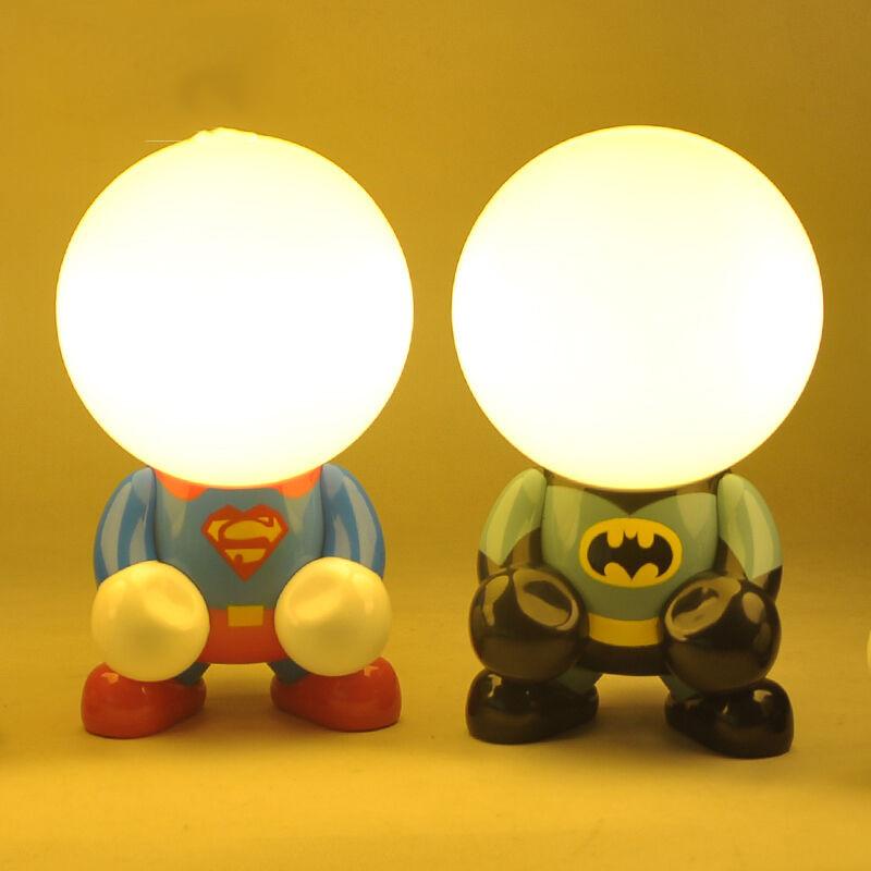 儿童卧室卡通动漫 创意台灯小夜灯led节能 插电充电床头灯床头灯具图片