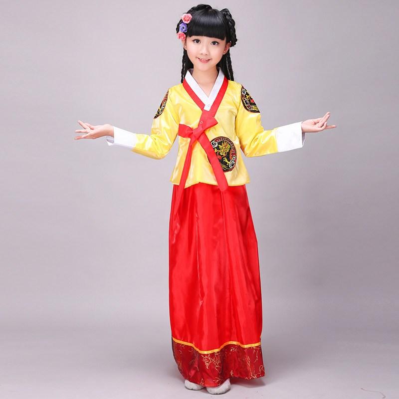 六一儿童大长今韩服表演服朝鲜族女童服装少数民族韩国舞台装女童