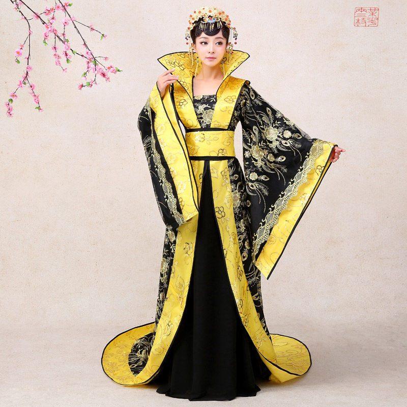 古装服装皇后贵妃拖尾2016新款公主古代舞台汉服摄影唐装女演出服