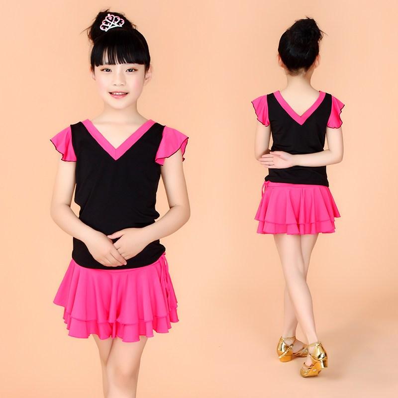 拉丁舞服装女童 儿童舞蹈服练功服夏季新款 少儿拉丁舞服装演出服
