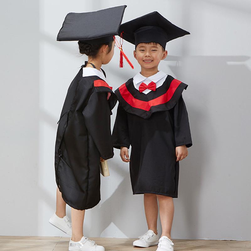 儿童演出服装 幼儿舞蹈服博士服 男女毕业礼服幼儿园学士服博士帽
