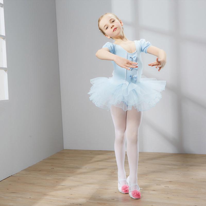 儿童舞蹈服装女童短袖芭蕾舞裙少儿练功服幼儿体操服演出服