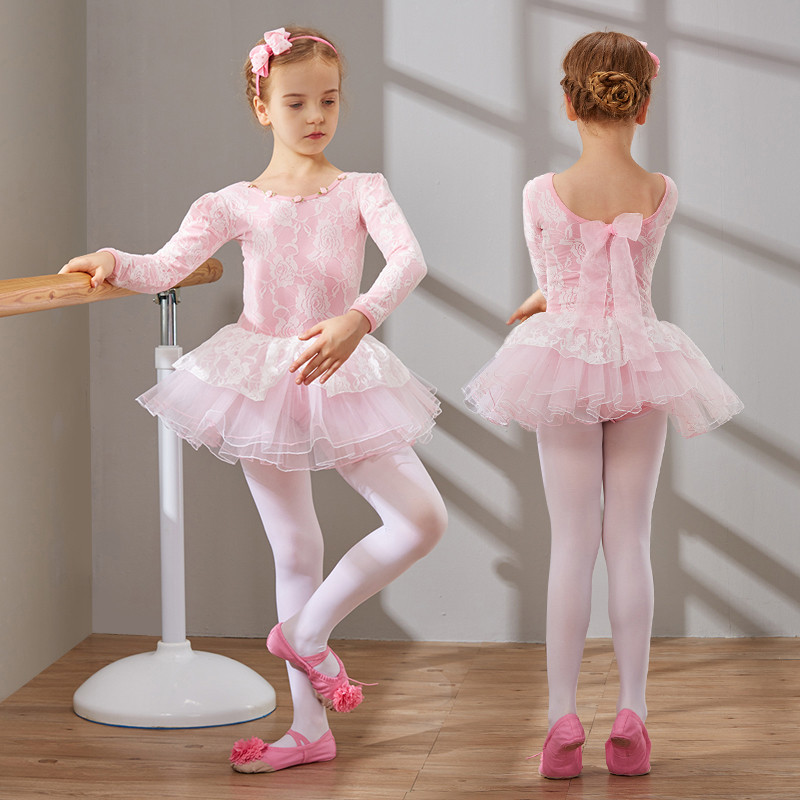 儿童舞蹈服装女童幼儿练功服芭蕾舞裙少儿考级服体操演出服
