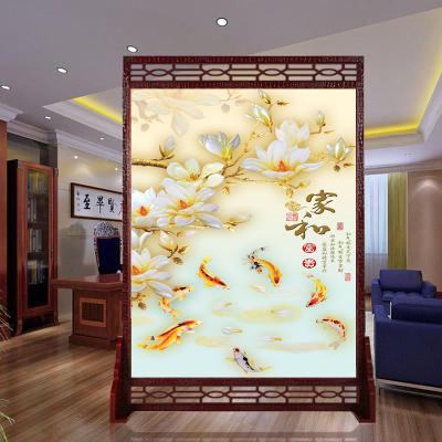 诚乐美现代简约实木中式屏风隔断玄关客厅镂空座屏改善风水可定制尺寸