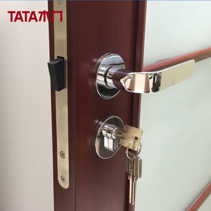 tata木门 室内门静音锁具 卧室门实木复合木门锁标配