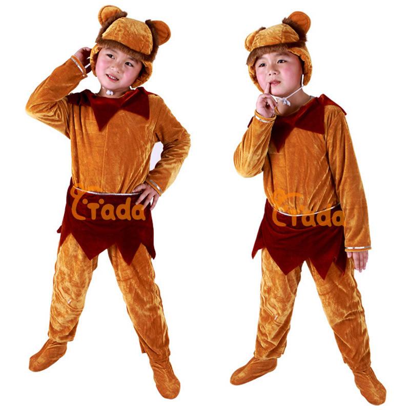 元旦儿童演出服舞蹈服 小猴子儿童动物表演服装造型服装套装=