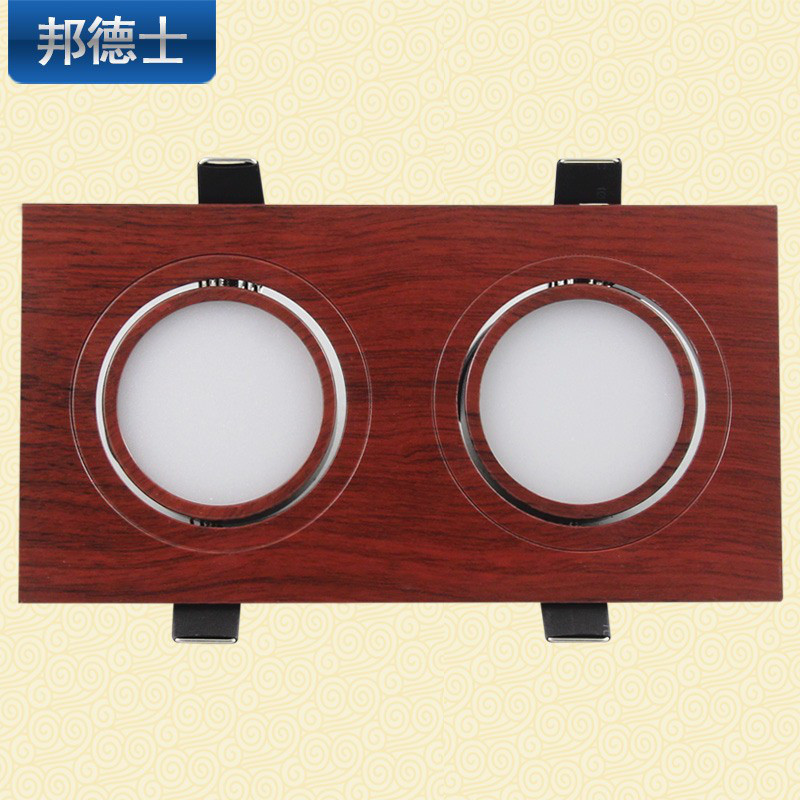 邦德士 双头筒灯led长方形天花灯过道客厅格栅灯新中式10w嵌入式图片
