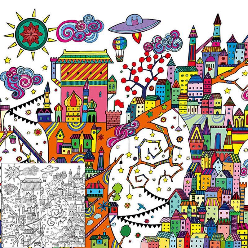 世界旅行 动物乐园 魔幻传奇 梦幻世界 秘密花园 送彩铅 经典童话手绘