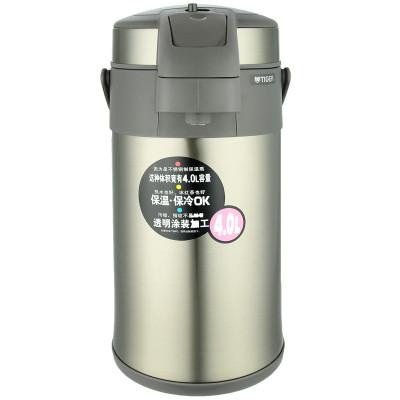 Tiger虎牌 MAA-A40C 4L 304不锈钢真空保温壶 保温热水瓶 家用大容量热水壶旅行水壶