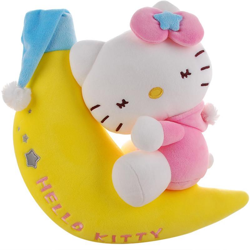 晚安hellokitty猫公仔凯蒂猫毛绒玩具泡沫粒子软体布娃娃玩偶送女朋友