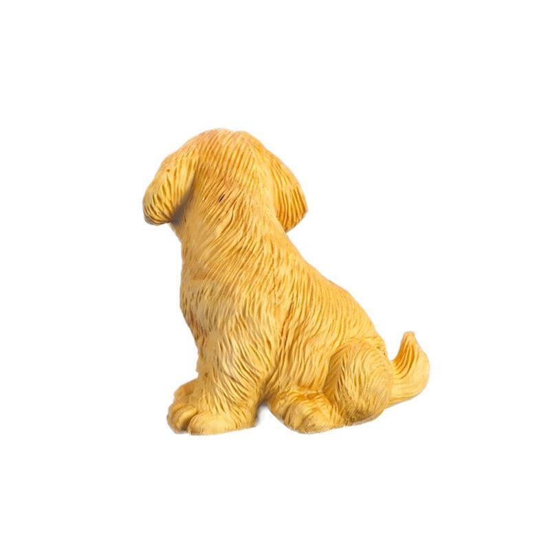 风水摆件居家摆件 黄杨木雕刻动物旺财狗汽车.