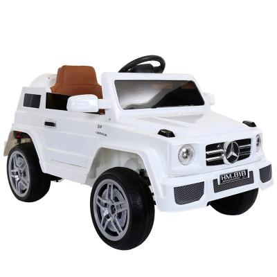儿童电动越野车四轮可坐人玩具车智能遥控小汽车双驱动红色户外音乐