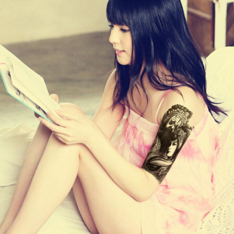 霸王虞姬花臂纹身分享展示