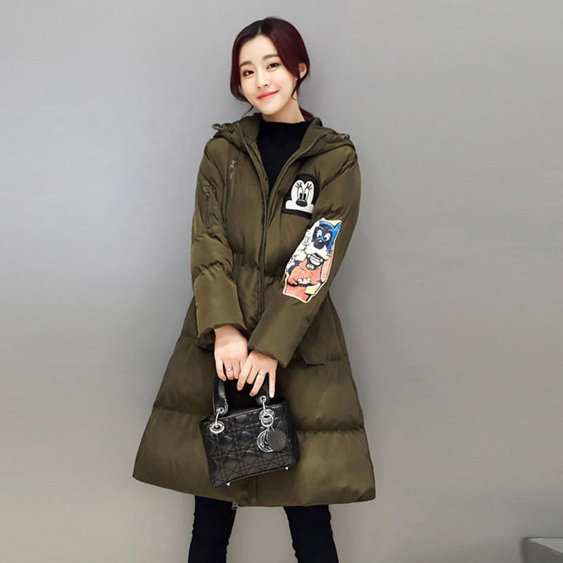 2016冬季新款卡通棉服外套韩版女装可爱修身女式收腰棉衣