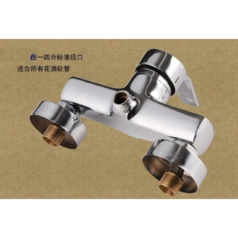 厦能全铜电热水器混水阀明装开关淋浴器通用配件冷热混合出水花洒龙头图片