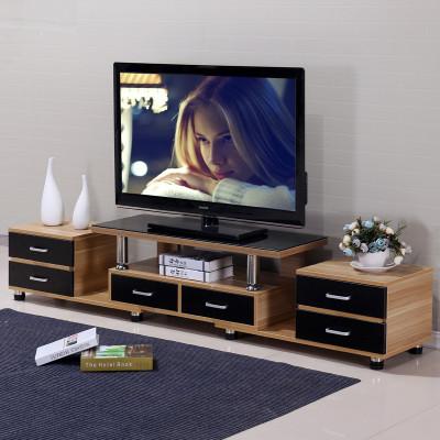 钢化玻璃电视柜简约伸缩木质欧式客厅电视